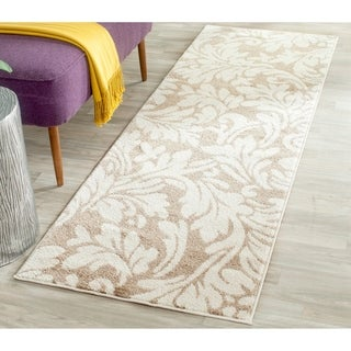 Safavieh Indoor/ Outdoor Amherst Wheat/ Beige Rug (2'3 x 7')
