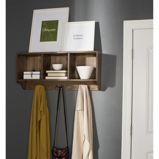Winslow White Hanging Entryway Shelf 17220945