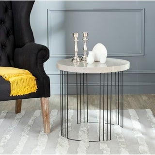 Safavieh Kelly Taupe/ Black Lacquer Side Table