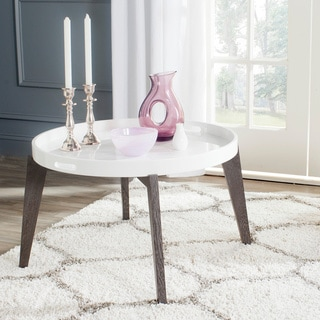 Safavieh Echo White/ Dark Brown Lacquer End Table