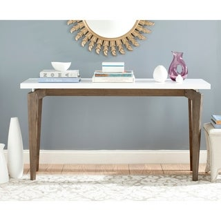 Safavieh Josef White/ Dark Brown Lacquer Console