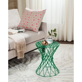 Safavieh Charlotte Green Iron Wire Stool