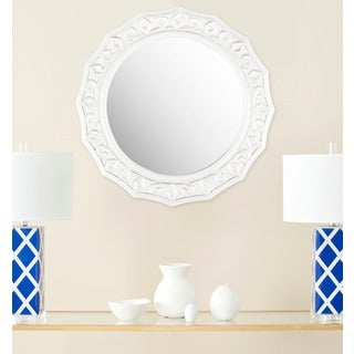 Safavieh Gossamer Lace White Mirror