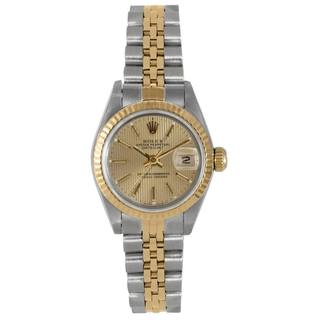Pre-Owned Rolex Women's Two-tone Champagne Dial Watch
