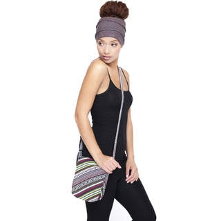 Hand-crafted Tribal Print Cotton Cross-body Bag (Nepal)