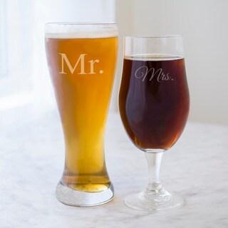 Mr. and Mrs. Pilsner Set