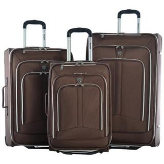 Olympia Hamburg 3 Piece Luggage Set Brown image