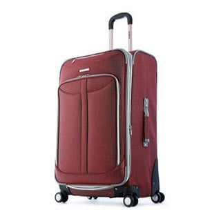 Olympia Tuscany Red 25-inch Expandable Spinner Upright Suitcase
