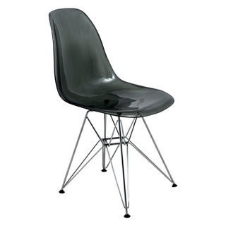 Cresco Molded Eiffel Side Chair in Glossy Black