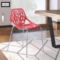 Asbury Modern Red/ Chrome Dining Chair