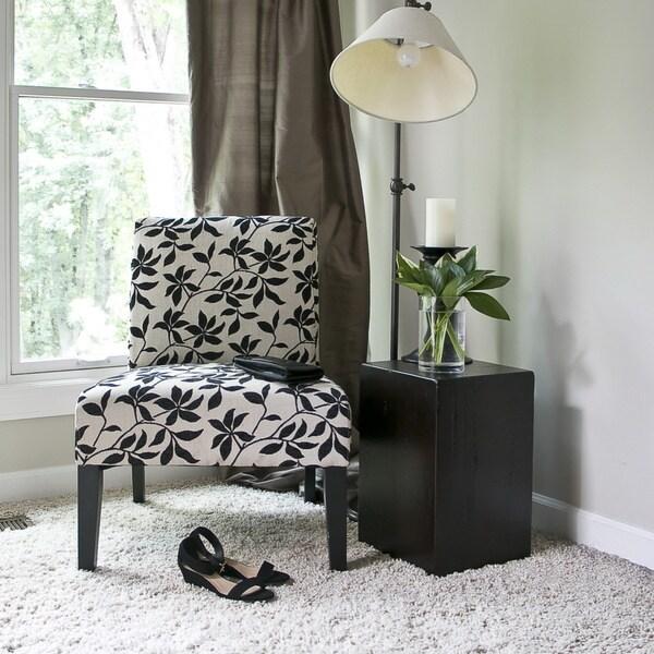 Baxton Studio Phaedra Leaf Silhouette Modern Slipper Chair