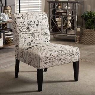 Baxton Studio Phaedra French Script Modern Slipper Chair