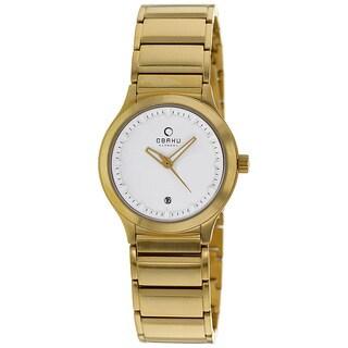 Obaku Women's Harmony Goldtone Bracelet Watch
