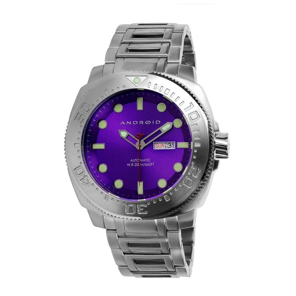 android s parma 52 purple automatic day date