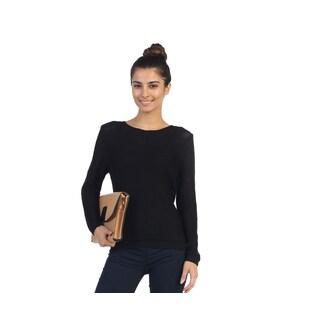 Hadari Juniors Black Long Sleeve Knit Sweater