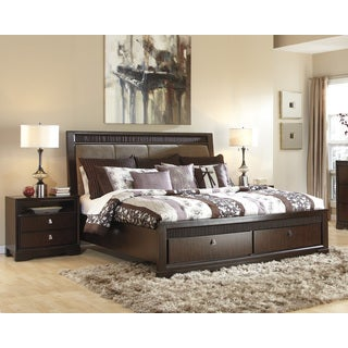 Signature Design by Ashley Marxmir Medium Brown Upholstered Bed