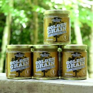 Green Mountain Mustard 9-ounce Maple Wholegrain Mustard (Pack of 4)