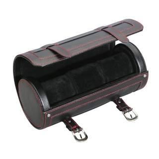 Diplomat Black Leatherette 3-watch Travel Roll