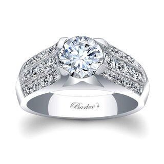 Barkev's Designer 14k White Gold 1 3/4ct TDW Diamond Engagement Ring (F-G, SI1-SI2)