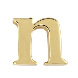 Goldplated Sterling Silver Personalized Initial Charm