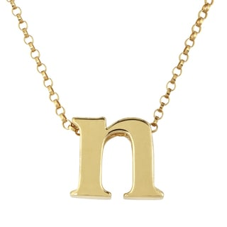 Gold Over Sterling Silver Single Initial Charm Pendant
