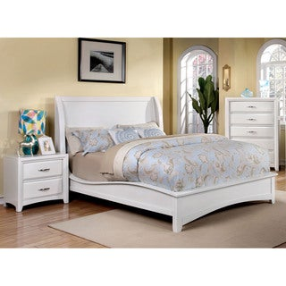 Furniture of America Loraine Modern 3-Piece Wingback Bedroom Set