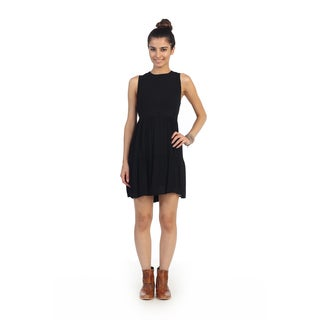 Hadari Juniors Black Sleeveless Dress