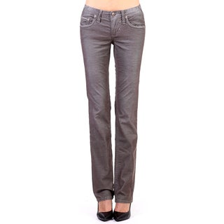 Stitches Women's Grey Straight-leg Low Rise Trousers