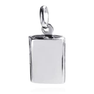 Charming Rectangle Plain Locket .925 Silver Pendant (Thailand)