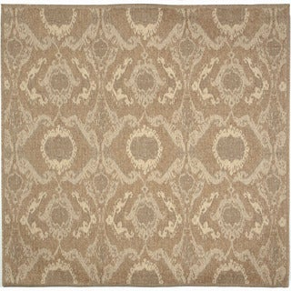 Ethnic Neutral Outdoor Rug (7'10 SQ)