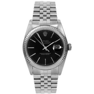 Pre-owned Rolex Men's Datejust Stainless Steel Fluted Bezel Automatic Watch