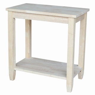 Solano Unfinished Solid Parawood Accent Table