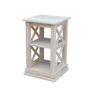 Hampton Unfinished Solid Parawood Accent Table