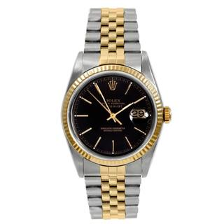 Pre-owned Rolex Men's Datejust Stainless Steel/ Yellow Gold Automatic Watch