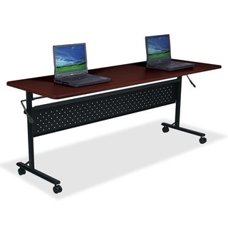 Lorell LLR60670 Mahogany Flipper Training Table