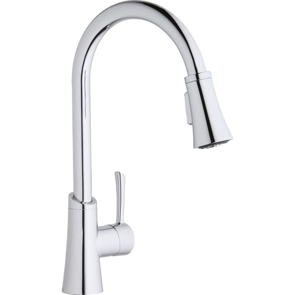 elkay gourmet pull down kitchen faucet 16439398 shop elkay explore antique steel 2 handle pull down