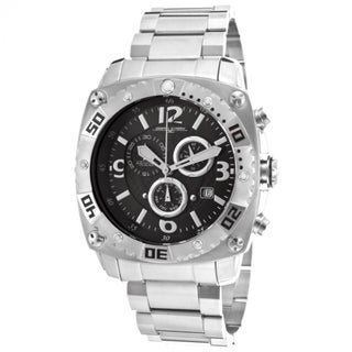 Jorg Gray Men's Black Dial Stainless Steel Chronograph Watch