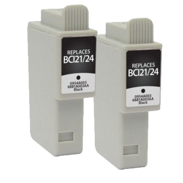 Canon BCI-21 Black Compatible Inkjet Cartridges (Pack of 2) (Remanufactured)