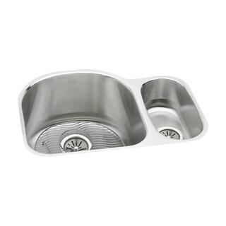 Elkay Harmony (Lustertone) Stainless Steel Double Bowl Undermount Sink Kit