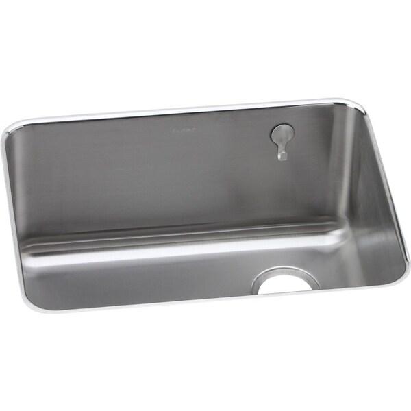 Elkay Undermount Sink : Elkay Gourmet (Lustertone) Stainless Steel Single Bowl Undermount Sink ...