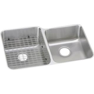 Elkay Gourmet (Lustertone) Stainless Steel Double Bowl Undermount Sink