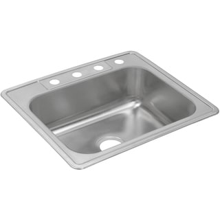 Elkay Dayton Stainless Steel Single Bowl Top Mount Sink