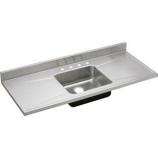 Elkay Gourmet (Lustertone) Stainless Steel Single Bowl Sink Top Sink