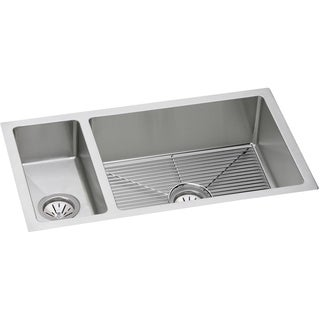 Elkay Avado Stainless Steel Double Bowl Undermount Sink Kit