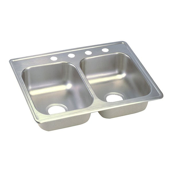 Top Stainless Steel Sinks : Elkay Dayton Stainless Steel Double Bowl Top Mount Bar Sink - 16439642 ...