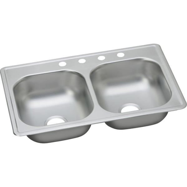 Double Bowl Stainless Steel Sink : Elkay Dayton Elite Stainless Steel Double Bowl Top Mount Sink ...