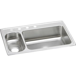 Elkay Gourmet (Lustertone) Stainless Steel Double Bowl Top Mount Sink