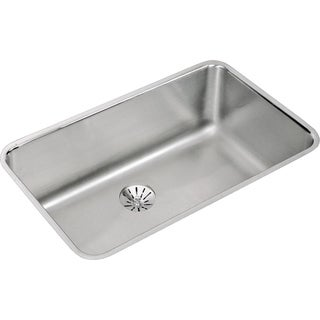 Elkay Gourmet (Lustertone) Stainless Steel Single Bowl Undermount Sink Kit