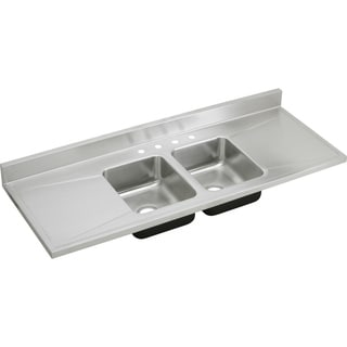 Elkay Gourmet (Lustertone) Stainless Steel Double Bowl Sink Top Sink
