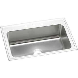 Elkay Gourmet (Lustertone) Stainless Steel Single Bowl Top Mount Sink